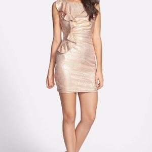 Hailey Logan by Adrianna Pappell | Gold Dress sz S